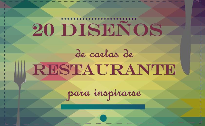 Diseños de cartas de restaurantes