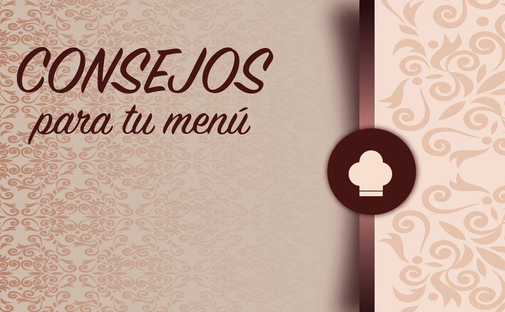 consejos para menú de un restaurante