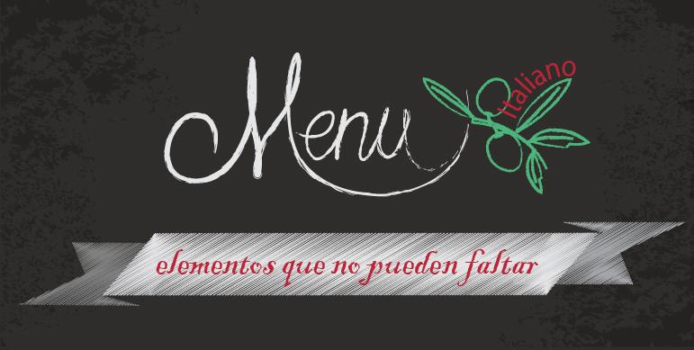 carta de comida italiana